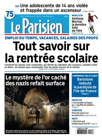 Le Parisien + Journal de Paris du mardi 01 septembre 2015