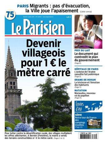 Le Parisien + Journal de Paris du mardi 04 aout 2015