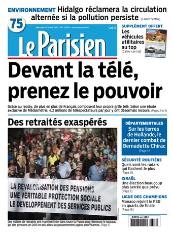 Le Parisien + Journal de Paris du mercredi 18 mars 2015 [HQ]
