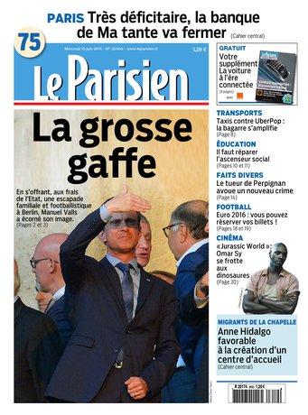 Le Parisien + Journal de Paris du mercredi 10 juin 2015