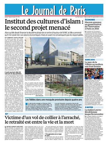 Le Parisien + Journal de Paris du mercredi 09 septembre 2015