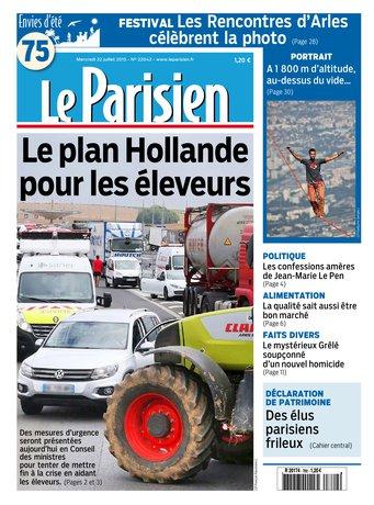 Le Parisien + Journal de Paris du mercredi 22 juillet 2015