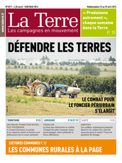 Publication La Terre du 23 avril 2013