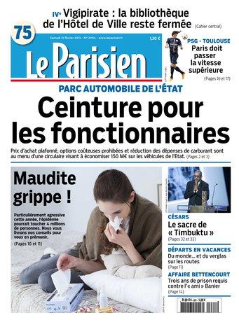 Le Parisien + Journal de Paris Samedi 21 Février 2015