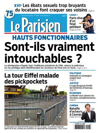 Le Parisien + journal de Paris du samedi 23 mai 2015