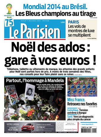 Le Parisien Samedi 07 Décembre 2013