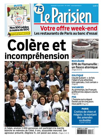 Le Parisien + journal de Paris & Magazine du vendredi 17 avril 2015