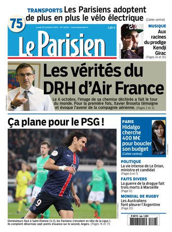 Le Parisien + Journal de Paris du lundi 26 octobre 2015