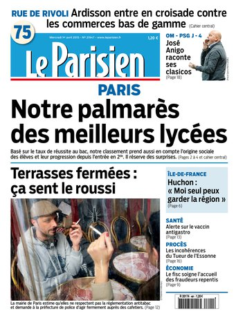 Le Parisien + Journal de Paris du mercredi 01 avril 2015