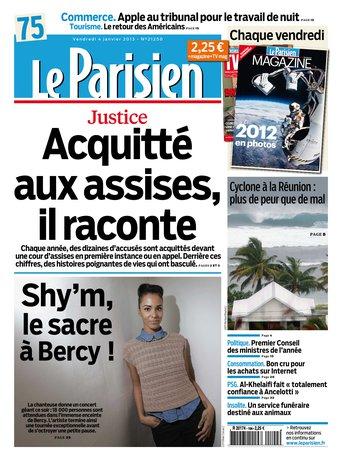 Le Parisien du vendredi 04 janvier 2013