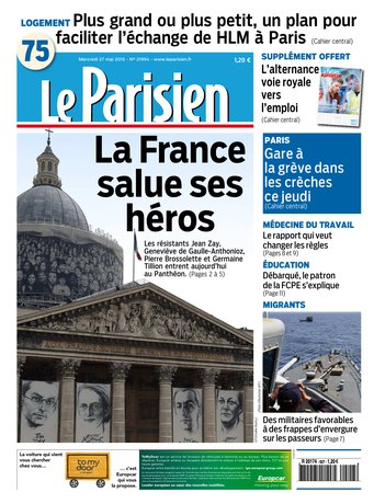 Le Parisien + Journal de Paris du mercredi 27 mai 2015