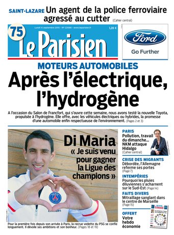 Le Parisien + journal de Paris du lundi 14 septembre 2015