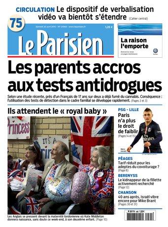 Le Parisien + Journal de Paris du samedi 25 avril 2015