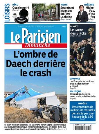 Le Parisien + Guide de votre dimanche du 01 novembre 2015