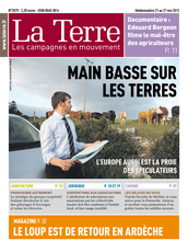 Publication La Terre du 21 mai 2013
