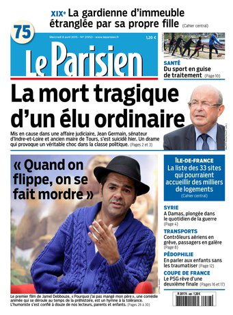 Le Parisien + Journal de Paris du mercredi 08 avril 2015