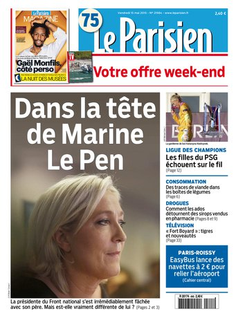 Le Parisien + journal de Paris& Magazine du vendredi 15 mai 2015