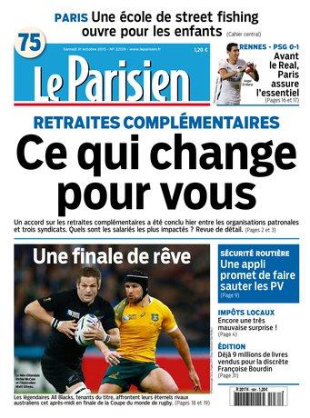 Le Parisien + Journal de Paris du samedi 31 octobre 2015