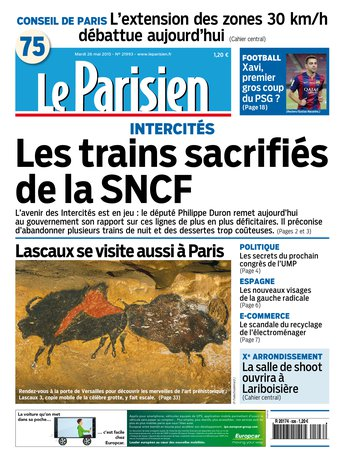 Le Parisien + Journal de Paris du mardi 26 mai 2015