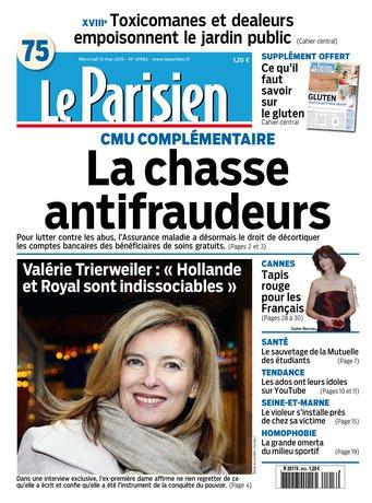 Le Parisien + journal de Paris du mercredi 13 mai 2015