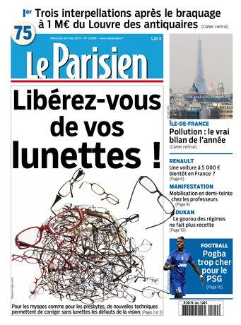 Le Parisien + Journal de Paris du mercredi 20 mai 2015
