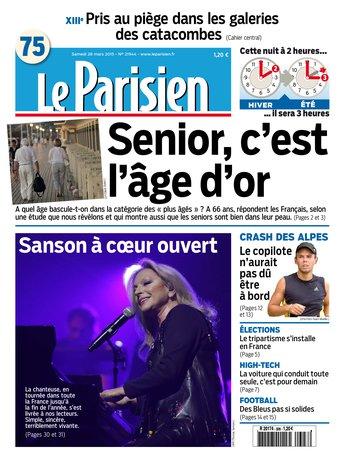 Le Parisien + Journal de Paris du samedi 28 mars 2015