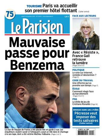 Le Parisien + journal de Paris du jeudi 05 novembre 2015
