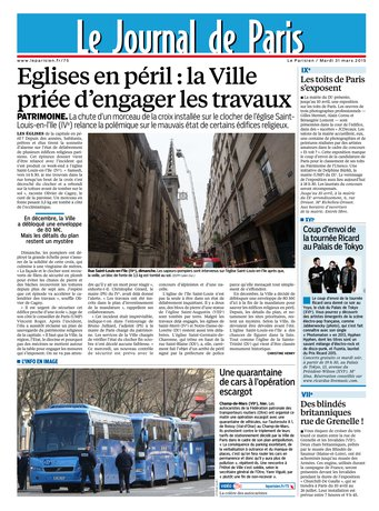 Le Parisien + Journal de Paris du mardi 31 mars 2015