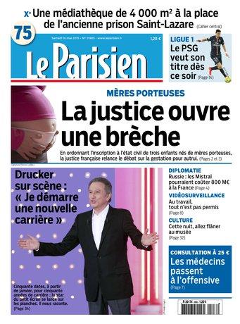 Le Parisien + Journal de Paris du samedi 16 mai 2015