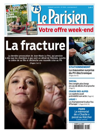 Le Parisien + journal de paris & Magazine du vendredi 03 avril 2015