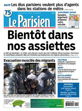 le Parisien + Journal de Paris du mardi 09 juin 2015