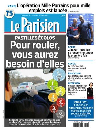 Le Parisien + Journal de Paris du mardi 02 juin 2015
