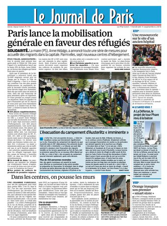 Le Parisien + Journal de Paris & Magazine du vendredi 11 septembre 2015