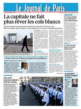 Le Parisien + Journal de Paris du jeudi 03 septembre 2015