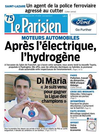 Le Parisien + journal de Paris & supplément économie du lundi 14 septembre 2015