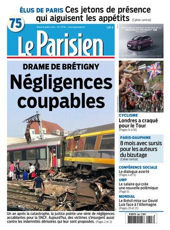 Le Parisien + Cahier Paris Mardi 08 Juillet 2014