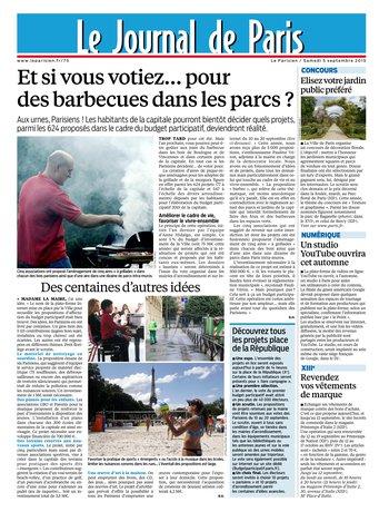 Le Parisien + Journal de Paris du samedi 05 septembre 2015
