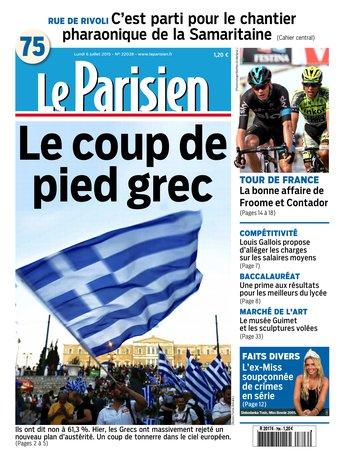 Le Parisien + journal de Paris du lundi 06 juillet 2015