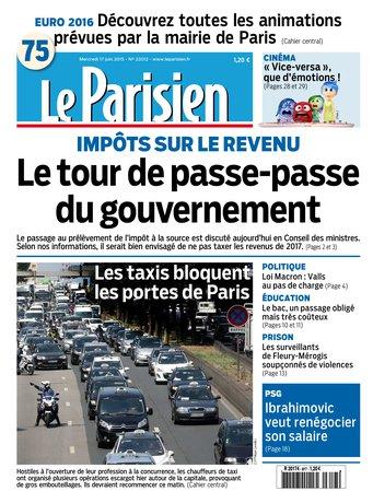 Le Parisien + Journal de Paris du mercredi 17 juin 2015