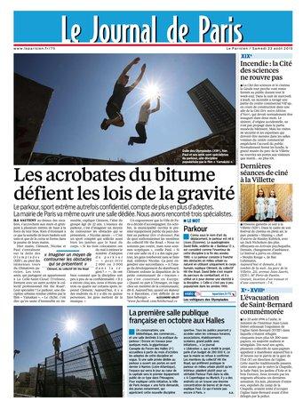 Le Parisien + Journal de Paris du samedi 22 aout 2015