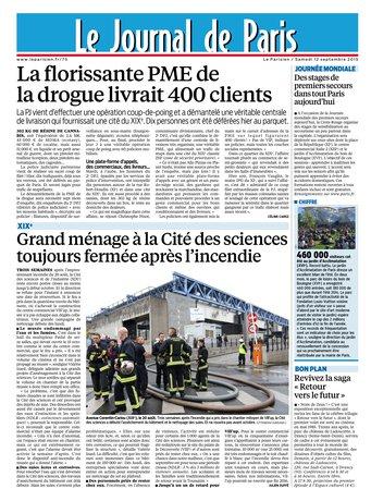 Le Parisien + Journal de Paris du samedi 12 septembre 2015