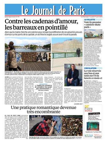 Le Parisien + journal de Paris & supplément Economie du lundi 01 juin 2015